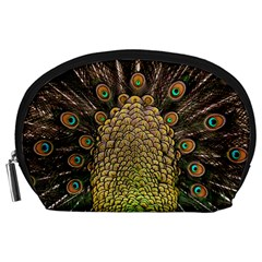 Peacock Feathers Wheel Plumage Accessory Pouches (large)