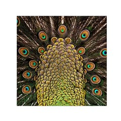 Peacock Feathers Wheel Plumage Small Satin Scarf (square)
