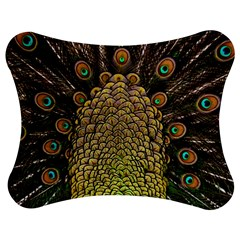 Peacock Feathers Wheel Plumage Jigsaw Puzzle Photo Stand (bow)