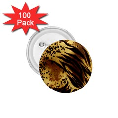 Pattern Tiger Stripes Print Animal 1 75  Buttons (100 Pack)