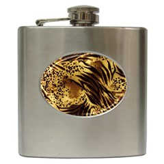 Pattern Tiger Stripes Print Animal Hip Flask (6 Oz)