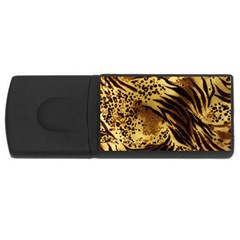 Pattern Tiger Stripes Print Animal Rectangular Usb Flash Drive
