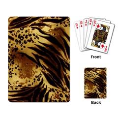 Pattern Tiger Stripes Print Animal Playing Card