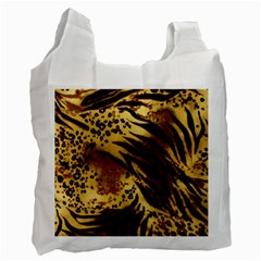 Pattern Tiger Stripes Print Animal Recycle Bag (one Side)