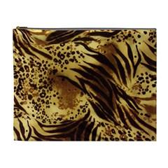 Pattern Tiger Stripes Print Animal Cosmetic Bag (xl)