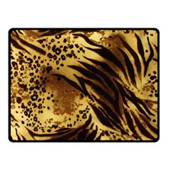 Pattern Tiger Stripes Print Animal Fleece Blanket (small)