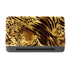 Pattern Tiger Stripes Print Animal Memory Card Reader With Cf