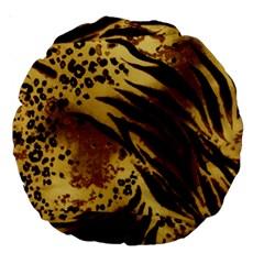 Pattern Tiger Stripes Print Animal Large 18  Premium Round Cushions