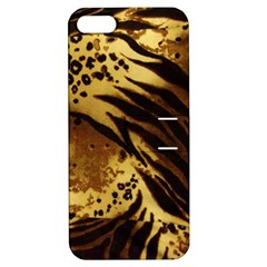 Pattern Tiger Stripes Print Animal Apple Iphone 5 Hardshell Case With Stand