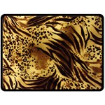 Pattern Tiger Stripes Print Animal Double Sided Fleece Blanket (Large)  80 x60 Blanket Front