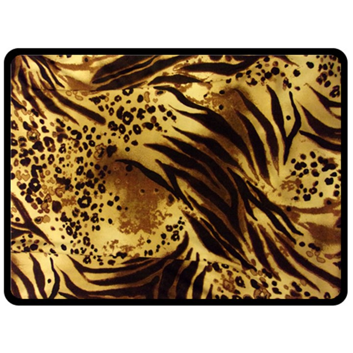 Pattern Tiger Stripes Print Animal Double Sided Fleece Blanket (Large)