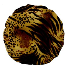 Pattern Tiger Stripes Print Animal Large 18  Premium Flano Round Cushions