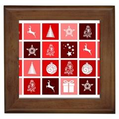 Christmas Map Innovative Modern Framed Tiles