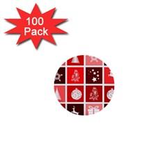Christmas Map Innovative Modern 1  Mini Buttons (100 Pack)