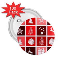 Christmas Map Innovative Modern 2 25  Buttons (100 Pack)