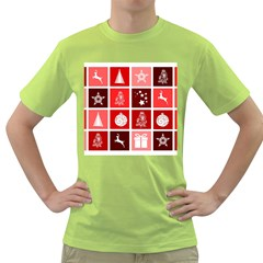 Christmas Map Innovative Modern Green T Shirt