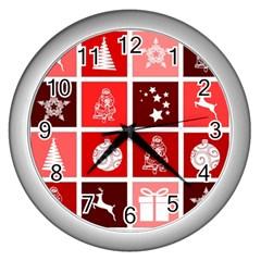Christmas Map Innovative Modern Wall Clocks (silver)