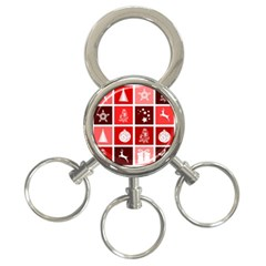 Christmas Map Innovative Modern 3 Ring Key Chains