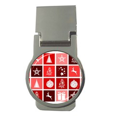 Christmas Map Innovative Modern Money Clips (round)