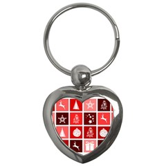 Christmas Map Innovative Modern Key Chains (heart)