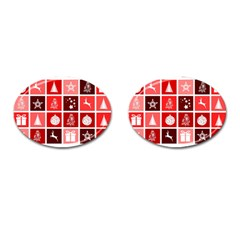 Christmas Map Innovative Modern Cufflinks (oval)