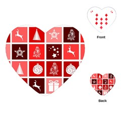 Christmas Map Innovative Modern Playing Cards (heart)