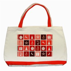 Christmas Map Innovative Modern Classic Tote Bag (red)