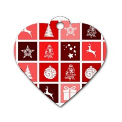 Christmas Map Innovative Modern Dog Tag Heart (two Sides)