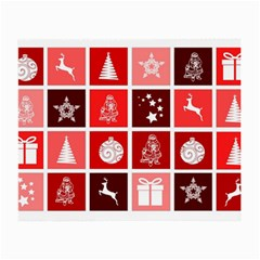 Christmas Map Innovative Modern Small Glasses Cloth (2 Side)