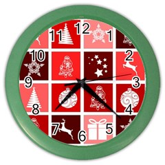 Christmas Map Innovative Modern Color Wall Clocks