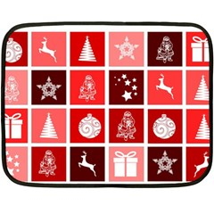 Christmas Map Innovative Modern Double Sided Fleece Blanket (mini)