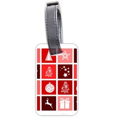 Christmas Map Innovative Modern Luggage Tags (two Sides)