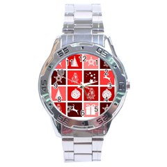 Christmas Map Innovative Modern Stainless Steel Analogue Watch