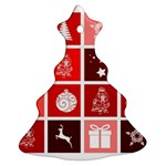 Christmas Map Innovative Modern Christmas Tree Ornament (Two Sides) Front