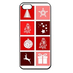 Christmas Map Innovative Modern Apple Iphone 5 Seamless Case (black)