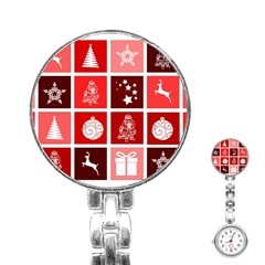 Christmas Map Innovative Modern Stainless Steel Nurses Watch