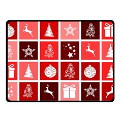 Christmas Map Innovative Modern Double Sided Fleece Blanket (small)