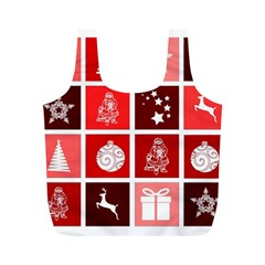 Christmas Map Innovative Modern Full Print Recycle Bags (m)
