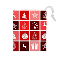 Christmas Map Innovative Modern Drawstring Pouches (large)