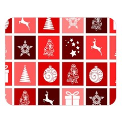 Christmas Map Innovative Modern Double Sided Flano Blanket (large)