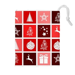 Christmas Map Innovative Modern Drawstring Pouches (extra Large)