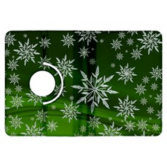 Christmas Star Ice Crystal Green Background Kindle Fire Hdx Flip 360 Case