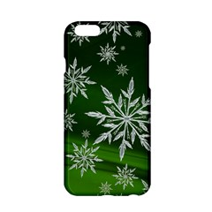 Christmas Star Ice Crystal Green Background Apple Iphone 6/6s Hardshell Case