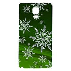 Christmas Star Ice Crystal Green Background Galaxy Note 4 Back Case