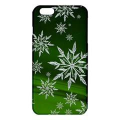 Christmas Star Ice Crystal Green Background Iphone 6 Plus/6s Plus Tpu Case