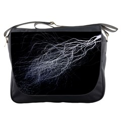 Flash Black Thunderstorm Messenger Bags