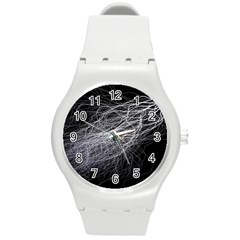 Flash Black Thunderstorm Round Plastic Sport Watch (m)