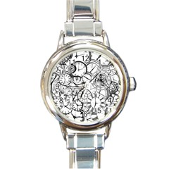 Time Clock Watches Time Of Round Italian Charm Watch