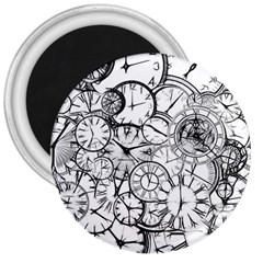 Time Clock Watches Time Of 3  Magnets
