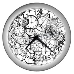 Time Clock Watches Time Of Wall Clocks (silver)